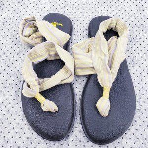 Sanuk Women's  Yoga Wrap Sandals yellow